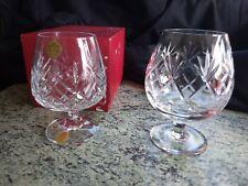 More details for 2 brandy glasses 1 webb corbett georgian pattern + 1 cristallerie zweisel boxed