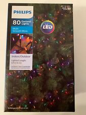 Philips 80 Garland Lights Multi Color Smooth Minis LED New