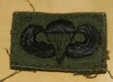 ORIGINAL US ARMY VIETNAM ARMY PARACHUTE WING SUBDUED CLOTH PATCH BADGE USED