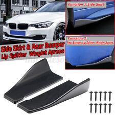 Carbon Look Side Skirts / Rear Bumper Lip Strip Splitter For BMW F10 F30 F32 F36