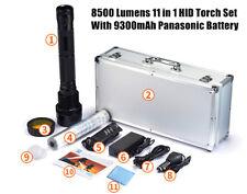 85W 8500 Lumens HID Xenon Torch Flashlight 9300mAh Panasonic Battery Spotlight
