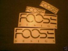 4 Chip Foose Design Sticker Decal Hot Rod Custom Overhauling V8