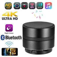 -5% 1080P 4K Mini Wifi HD SPY Hidden Camera Bluetooth Speaker Video Recorder UK