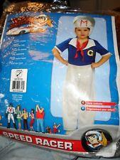 Speed Racer Toddler Costume Rubies NOS Girls jumpsuit headpiece 2-4 Rubies VTG
