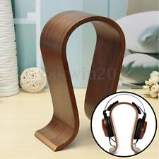 Solid Wooden Gaming Headset Earphone Headphone Stand Hanger Holder Display Rack