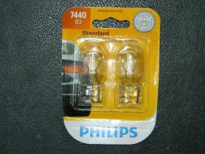 (1) PHILIPS STANDARD 7440 FOG TURN TAIL LIGHT BULBS (PACK OF 2) 7440B2 13.5V