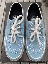Underground Wulfrun Creepers Retro Shoes Sky Blue Suede White Sole UK Size 4