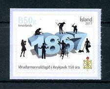 L'Islanda 2017 MNH Reykjavik artigiani Guild 150 anni IV Set timbri