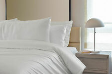 Plain Duvet Cover Bedding Set 50 Cotton Double White