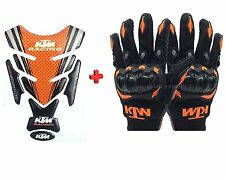 Combo For KTM Inspired Tank Pad And Racing Gloves For DUKE/RC-125/200/390