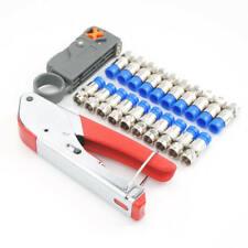 Coaxial Compression Connector Stripper Crimper Tool For RG6 RG59 Coax Cable cxv