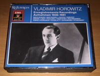 Horowitz Recordings 1930-51 Bach Beethoven Chopin Debussy 3CD set EMI reference