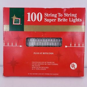 100 Clear String Lights On Green Wire Wedding Party Pack Deck Patio Yard Outdoor