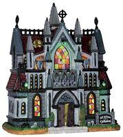RARE Lemax Spooky Town All Hallows Cathedral Church VHTF 2016 NIB Halloween