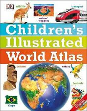 Children's Illustrated World Atlas by DK (Hardcover, 2017)