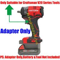 1x Milwaukee M18/XC Li-Ion Battery To Craftsman V20 Cordless Drill Tools Adapter
