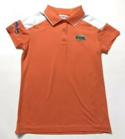 LaCoste Sport Miami Open-tennis Polo Shirt Orange Size 36 woman's