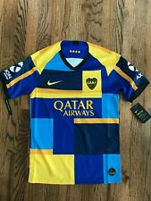 Nike Qatar Airways Blue Yellow CABJ Mens Size Small Jersey At0027 453 RARE