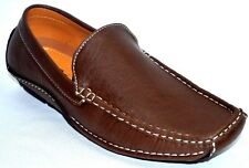 Men's  Casual Leather Moccasins Loafer Slip On Driving Comfort Shoes  cowfd