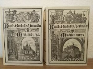2x BÜCHER  KUNST -  UND GESCHICHTS - DENKMÄLER MECKLENBURGS - BAND 3 und 4