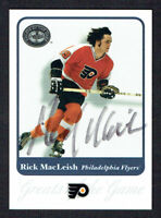 Rick MacLeish #47 signed autograph 2001 Fleer Hockey Greats of the Game GOTG