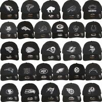 New Era NFL Core Classic 920 One Size Adjustable Team Dad Hat Cap Black White