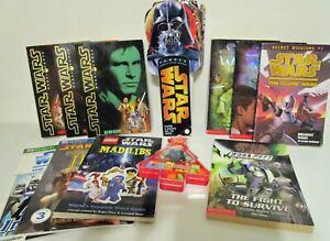 Star Wars Book Lot (11 books) Clone Wars Jedi Quest Jedi Boba Fett Fandex