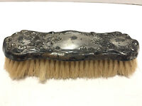 Antique Silverplate Clothes Brush Floral Relief by Empire Art Silver