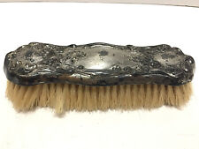 Art Nouveau Antique Floral Clothes Brush Empire Art Silver