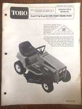 Toro Seated Mower Rider Operators Manual Models Instructions Lawn Garden Home