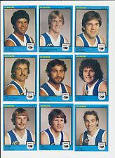 1982 Scanlens West Australian WAFL MINT East Fremantle Team set 9 cards