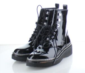 64-79 $199 Women's Size 5.5M Michael Kors Haskell Combat Boots in Black