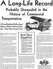 REO 1929 - REO Speed Wagon Ad - A Long Life Record Probably Unequaled in the His