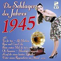 DIE SCHLAGER DES JAHRES 1945 2 CD NEU