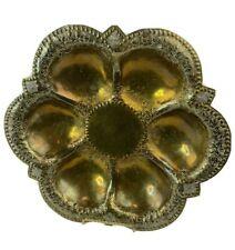 Antique Mendelssohn Large Hammered Brass Scalloped/Floral Dish/No 97