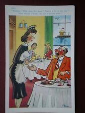 Postkarte Comic Kellnerin dort eine Fliege in meiner Suppe was tut das mir? ich bin kein Fort