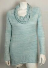 NWT Ladies Cupio Teal Cowl Neck Long Sweater Size M