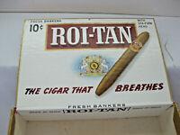 Cigar Box Roi-Tan Cigar Box Fresh Bankers 10 Cents