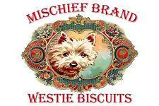 Westie  Mischief Brand Biscuit Tin & Cookies ( West Highland White Terrier)