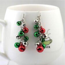 Women Fashion Jingle Bells Christmas Alloy Drop Earrings Jewelry  Xmas Gifts~