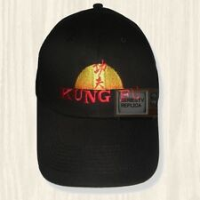 Kung Fu Black Hat TV Series David Carradine Kwai Chang Caine Cap Embroidered