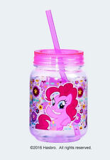My Little Pony Pinkie Pie Image Double Wall 12 oz Acrylic Mini Mason Jar, NEW