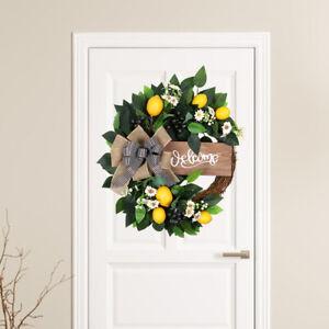 Lemon Wreath Window Wedding Porch Farmhouse Home Fruit Garland Decorative