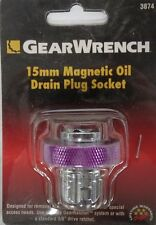 Gear Wrench 3874 15mm Magnetic Oil Drain Plug Socket