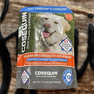 Cosequin Max Strength Joint Health w/ Omega-3 & MSM 120 Soft Chews Exp 2023