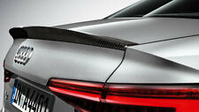 Genuine Audi New A4 B9 Saloon Carbon Rear Spoiler 2016>