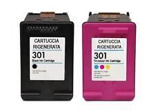 301 Cartuccia Rigenerata x Stampante HP 301 NERO + COLORE 1050,2050,2050S ecc