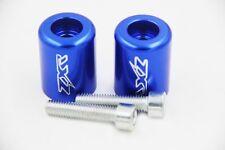 Blue Hand Bar Ends for Kawasaki ZX14 06-12 /Ninja ZX12R 00-05