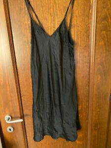 Intimissimi black silk Nightdress sleepwear nightgown size L