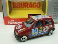 BURAGO 1/43 - FIAT 500 RALLY -  MADE ITALY